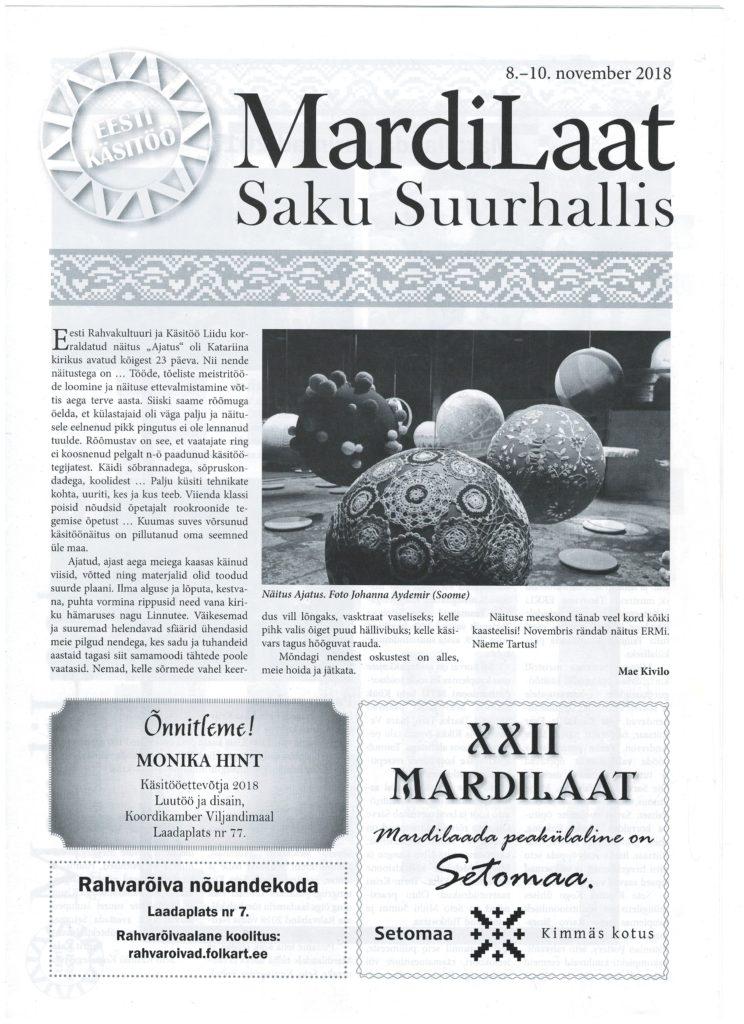 Mardilaat Saku Suurhallis (sügis 2018)